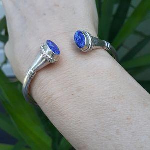 Sterling Silver Lapis Bracelet Cuff